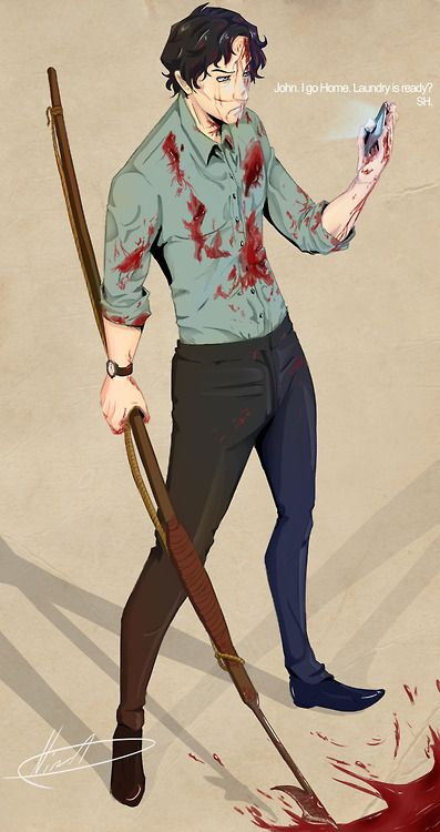 YES! I love talented people. Sherlock and his harpoon. Again a favorite of mine!! Click for artist blog.