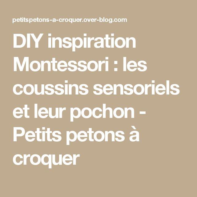 DIY inspiration Montessori : les coussins sensoriels et leur pochon - Petits petons à croquer
