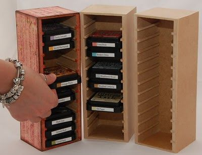 Ink Stamp Pad Storage   ... her husband Peter has designed its own storage system for ink pads