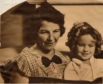 Shirley Temple and her mother