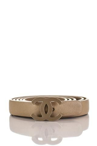 Pre-owned Chanel logo belt   OWN THE COUTURE   Canada's luxury designer consignment online boutique