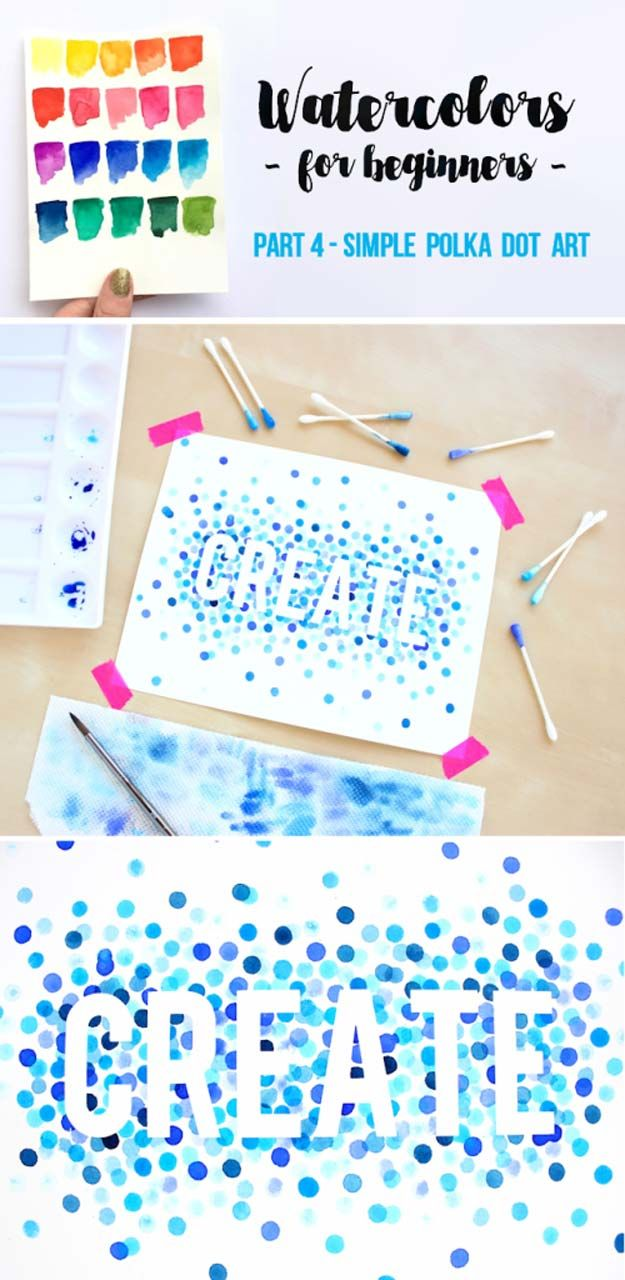 Petits points en aquarelle