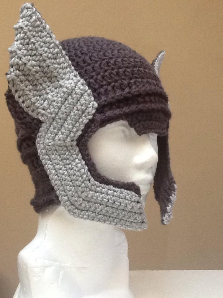 Crochet Thor Helmet by SauceSiordia