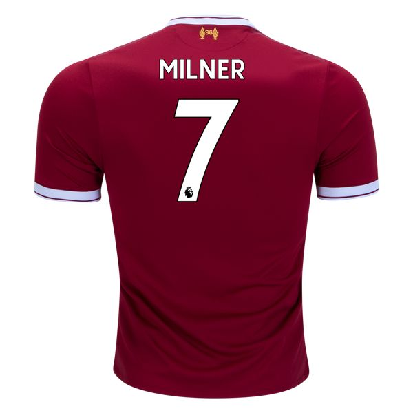 New Balance James Milner Liverpool Authentic Home Jersey 17/18