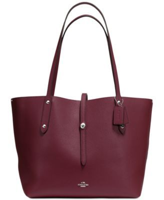 COACH Market Tote in Pebble Leather | macys.com