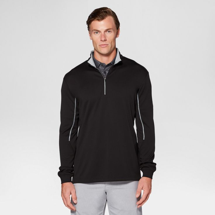 Men's Golf Quarter Zip - Jack Nicklaus - Black Xxl
