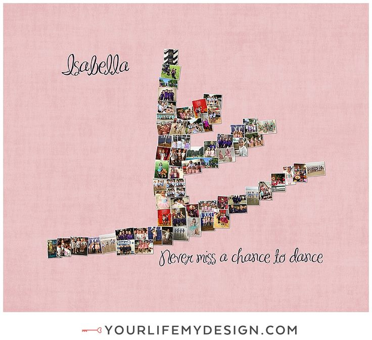 11x14 with 62 photos ❤ CollageDesign by http://yourlifemydesign.com/ #yourlifemydesign #photocollage #ballerina #dancer #gift #giftideas #anniversary #homedecor #home #photography #collage #decor #decoration #walldecor