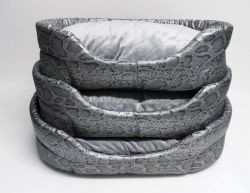 Eh Gia Oval Bed Snake Leather Grey ( verkrijgbaar in 7 maten )