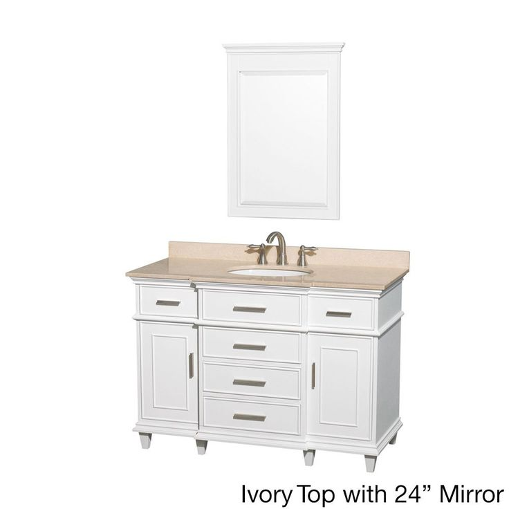 Create Photo Gallery For Website Wyndham Collection Berkeley White inch Single Vanity White ivory top