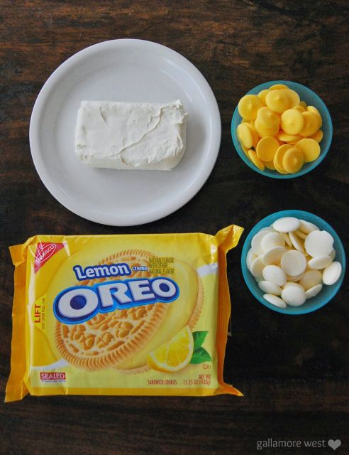 Three Ingredient Lemon Cheesecake Truffles!! Just like regular Oreo Truffles, but made w/ Lemon Oreos.