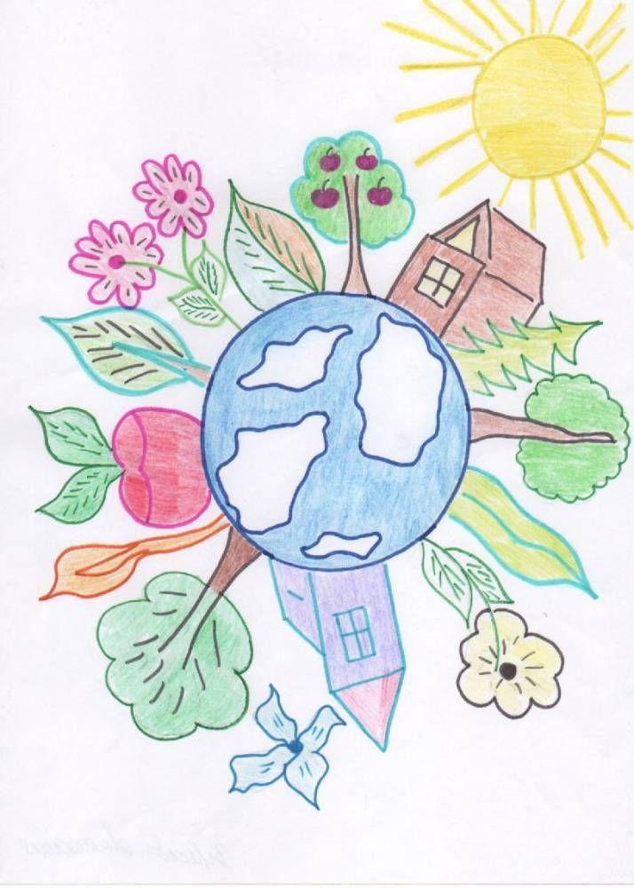 Открытки поздравления, нарисовать картинку мир вокруг нас