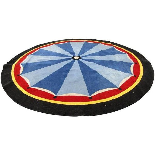 Round Circus Top Rug - 12′ × 12′ ($750) ❤ liked on Polyvore featuring home, rugs, circular rugs, circular area rugs, coloured rug, round area rugs and round rugs
