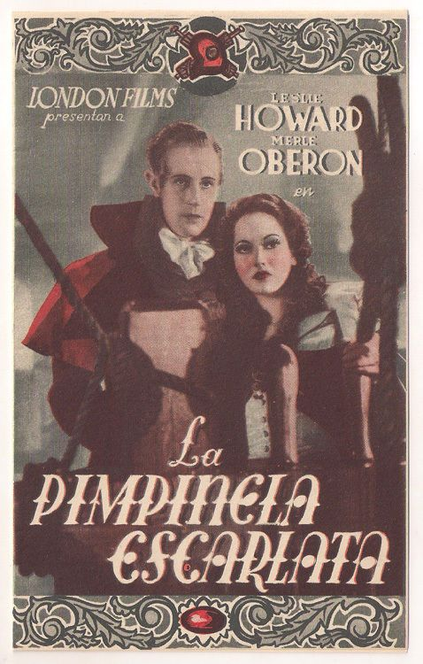 THE SCARLET PIMPERNEL LESLIE HOWARD MERLE OBERON SPANISH DBL HERALD MINI POSTER