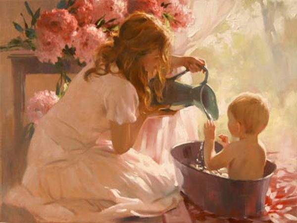 Richard S. Johnson (1939, American)  Morning Bath