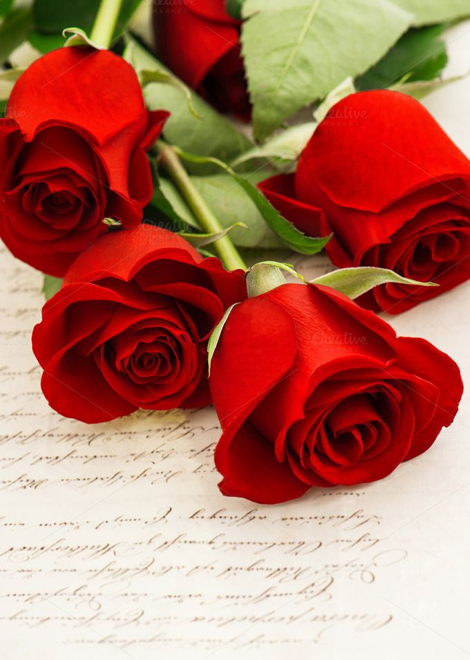 Check out Red roses and old love letters by LiliGraphie on Creative Market