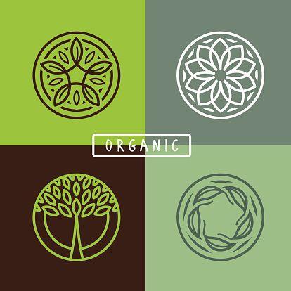 Vector Art : Vector abstract emblem - ecology