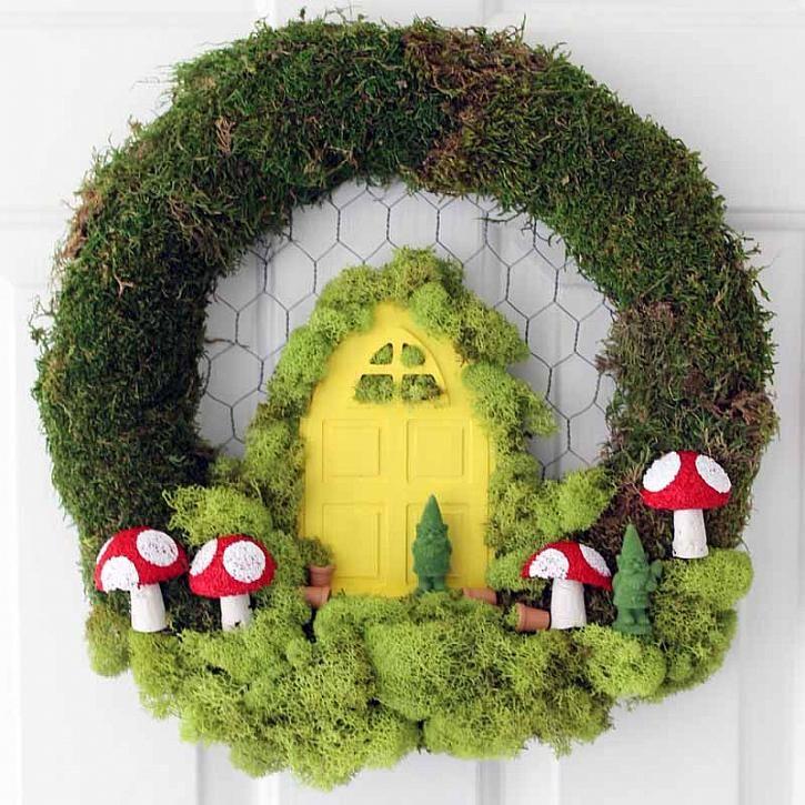 DecoArt Blog - Crafts - DIY Fairy Garden Wreath