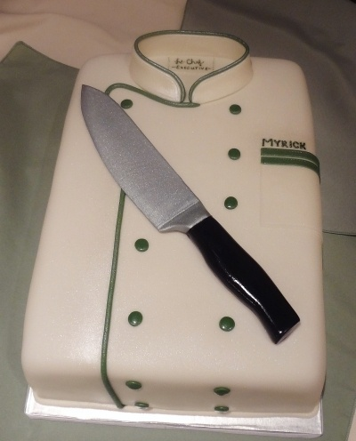 Chef's Coat Groom's Cake By Alisa555 on CakeCentral.com