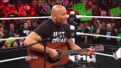 The Rock sings to Vickie Guerrero - YouTube