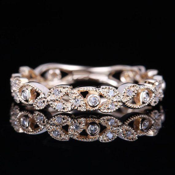 Round Cut 0.23ct Brilliant 14K  Yellow  Gold Wedding  by DofLove, $369.00