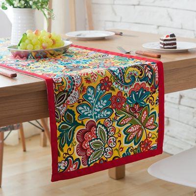 American national flags colorful cloth cotton canvas garden tea table pad flat tea custom banner