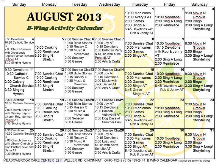 AlzheimerS Services  Activity Calendars    Alzheimers
