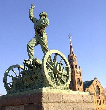 Sarel Cilliers, monument in Kroonstad