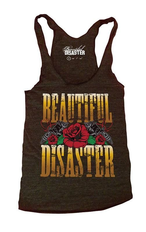 Beautiful Disaster Women's Tank available in the #inkedshop visit us online at  www.inkedshop.com/gnr-women-s-tank-by-beautiful-disaster.html