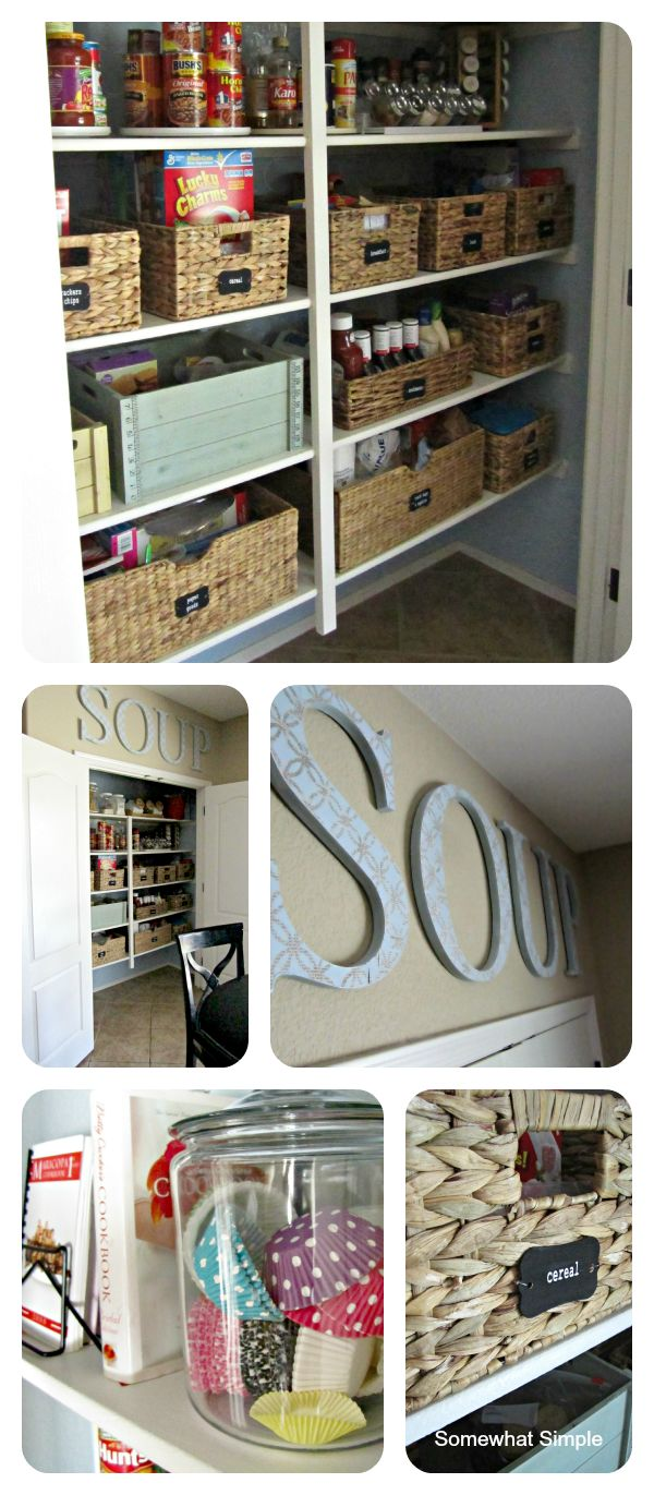 Motivation to organize your pantry and make it pretty!