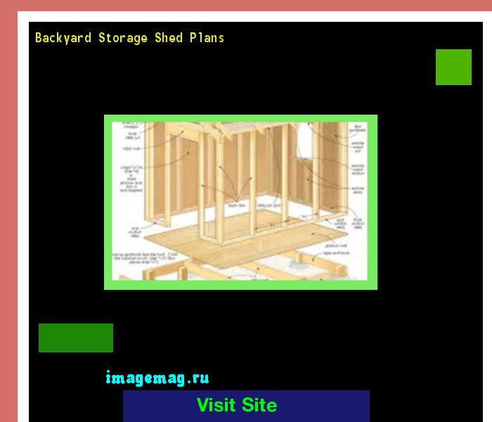 Backyard Storage Shed Plans 160908 - The Best Image Search