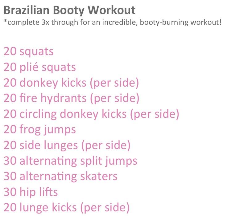 Brazilian booty workout...hurts SO good!