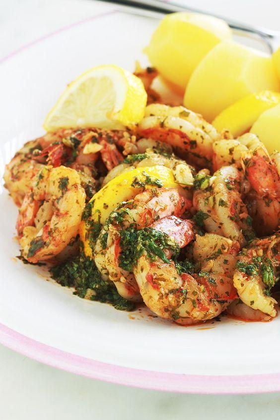 Crevettes En Sauce Chermoula Recette Facile Et Rapide Recette