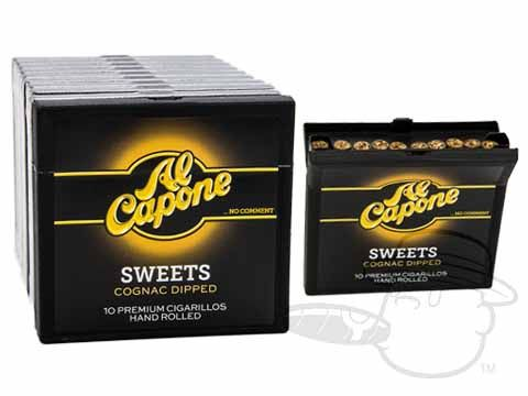 Al Capone Sweets Unfiltered 3 1/2 x 20—Small Packs: 100 Cigarillos - Best Cigar Prices