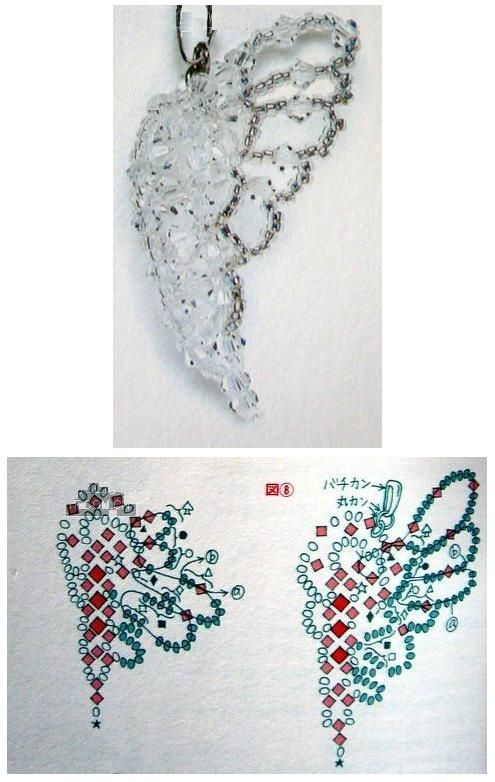 Crystal Beaded butterfly - Beaded Jewelry Patterns 串珠半面蝴蝶