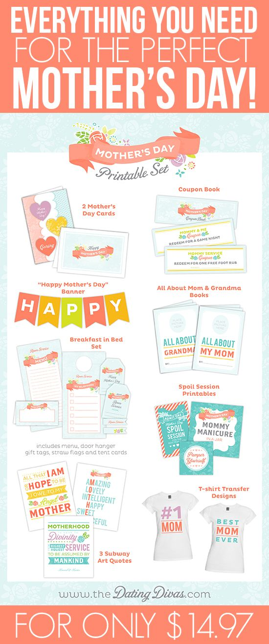 Get Inspired with Mother's Day Printables