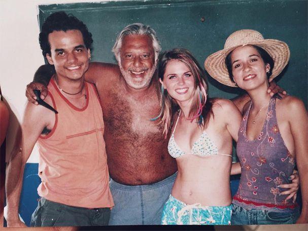 """Wagner Moura, Antonio Fagundes, Susana Werner e Paloma Duarte formavam o elenco de """"Deus é Brasileiro"""" (Foto: Reprodução/Instagram)"""