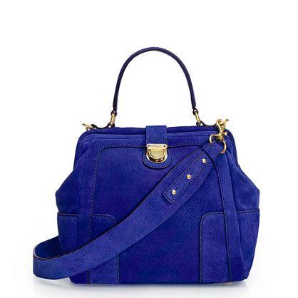 Telegram suede mini-satchel   J.Crew: Shoulder Bags,  Postbag, Bags Obsession, Women Bags, Telegram Suede, Blue Bags, Cobalt Blue, Crew Telegram, Deep Blue