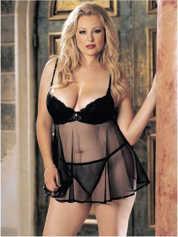 Blonde Plus Size Female Nodels Plus Size Lingerie For