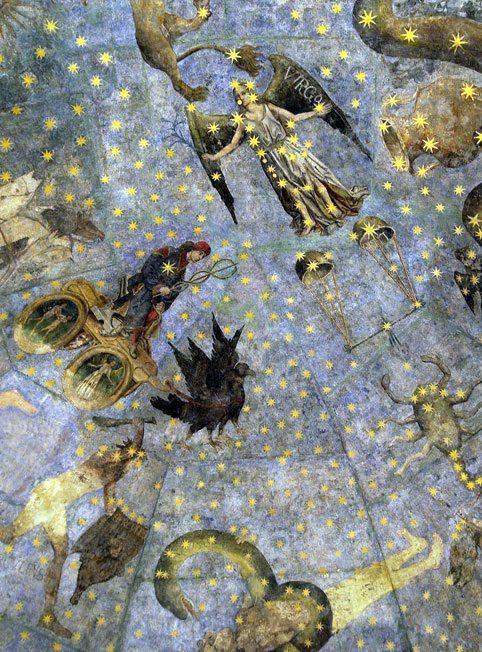 "Fragment of ""The Sky of Salamanca"" (El Cielo de Salamanca), ceiling mural…"