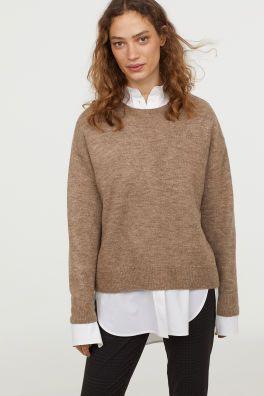 3bc5dd70f1 Kötött pulóver Model | ajándék | Beige sweater, Sweaters és H&m