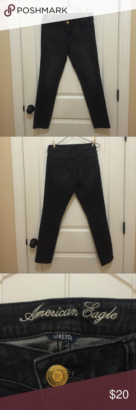 American Eagle Women's Jeggings Black pair of jeggings American Eagle Outfitters Jeans Skinny