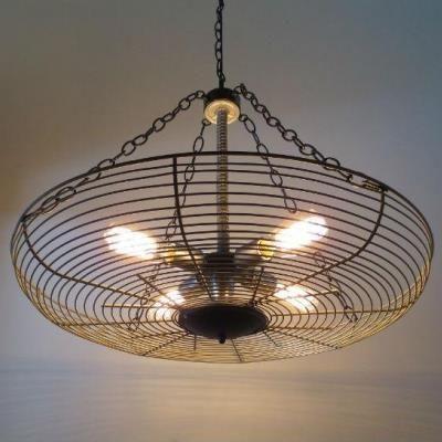 Fan cage light fixture