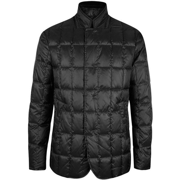 Giorgio Armani Nehru black quilted shell jacket (496,830 KRW) ❤ liked on Polyvore featuring men's fashion, men's clothing, men's outerwear, men's jackets, mens quilted jacket and men's shell jacket