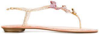 René Caovilla embellished bow sandals - $743.56