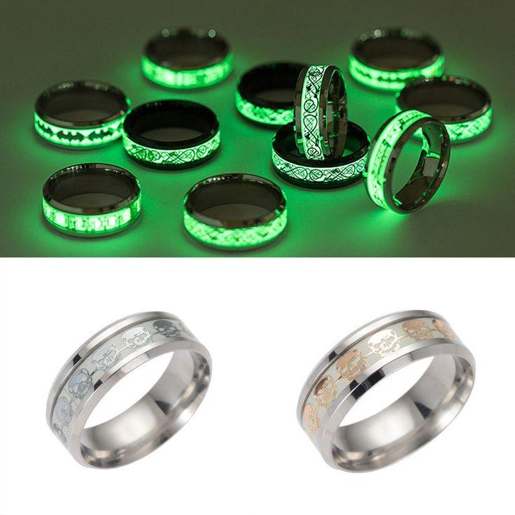 Glow In The Dark Tungsten Rings