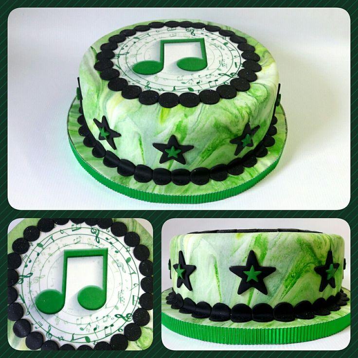 Cake Standard Nota Musical Green/Black #PrityCakes #pritycakes #cake #torta #dulce #pastel #panamacake #pastrypanama #edibleprints #fondantart #notamusical #corchea #panama #pty507 Android  https://play.google.com/store/apps/details?id=com.roidapp.photogrid  iPhone  https://itunes.apple.com/us/app/photo-grid-collage-maker/id543577420?mt=8