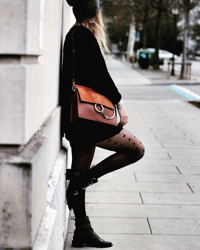 Totalement in love de mon nouveau sac Chloé ! Retrouvez ce look sur mon blog ! #winterstyle #chloebag #chloe #black