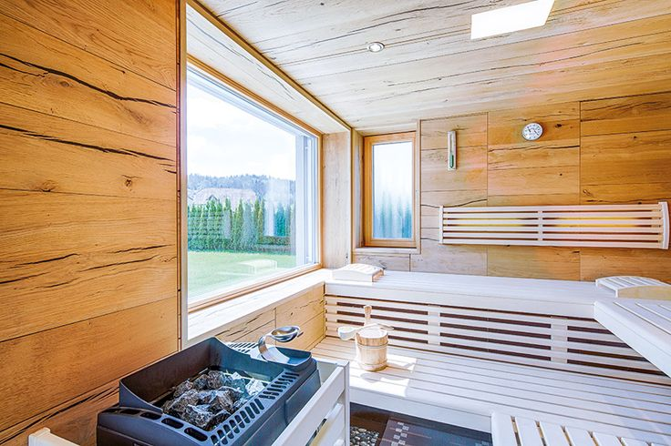 sauna in eiche crack mit fenster sauna wellnessr ume pinterest saunas. Black Bedroom Furniture Sets. Home Design Ideas