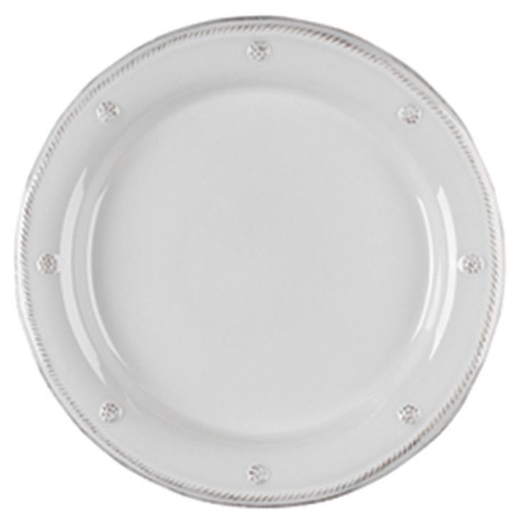 Add a foundation piece to any tableware with this whitewash round charger plate from Juliska, part of the Berry and Thread collection. This large chip resistant plate also doubles as an abundant dinne