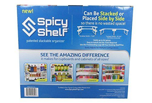 Spicy Shelf Patented Spice Rack and Stackable Organizer Spicy Shelf http://www.amazon.com/dp/B00MWCW3RC/ref=cm_sw_r_pi_dp_MA.Pvb1QT70FM